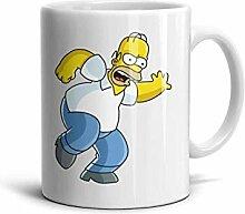 Weißer Homer-Simpson-Becher Feste Kaffeetasse