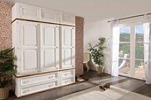 Weißer Kleiderschrank Massivholz - Dielenschrank