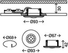 Weißer LED-Einbaustrahler Shower, IP65
