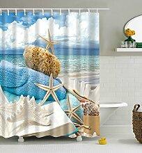 Weisser Seestern Badezimmer Duschvorhang,