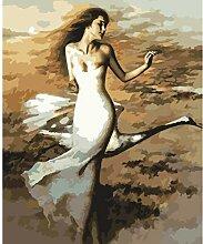 Weißes Kleid Tänzer Swan Digital Paint Malen