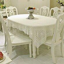 Weißes Tischtuch/ Stickerei Tischdecke/ Stickerei Tischdecke/Tischdecken/Tischdecke decke/Continental zurückgezogen-A 110x160cm(43x63inch)
