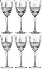 Weißweinglas, Wasserglas, Stielgläser, 6 Stück,