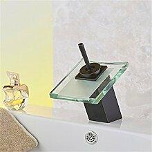 WEIXXOO Glas Wasserfall Armatur Waschtisch Armatur Waschtisch Armatur