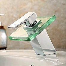 WEIXXOO Wasserhahn minimalistischen LED Waschbecken Wasserhahn Bad warmes und kaltes Tauchbecken mit Leuchten