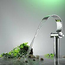 WEIXXOO Zwei einzelne Bohrung messing Ventilsitz - Waschbecken - breite Kupfer Werkbank - WASCHTISCHMISCHER heiße und kalte Tauchbecken Mischbatterien aufgeworfen