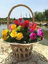 Weiye&l Rattan gesponnene Obst und Blumen Korb Home Decoration