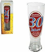 Weizenbier-Glas | Herzlichen Glückwunsch | 30 Jahre | Bierglas | Geschenk | Weizenbier | Glas | Geburtstag | Geschenkidee | Preis am Steil®