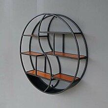 WEIZI Bücherregal Nordic Wohnzimmer hängen runde
