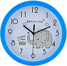 WEIZQ 10 Zoll Kinderwanduhr Lautlos Wanduhr Wall Clock ohne Tickgeräusche für Kinderzimmer Klassenzimmer