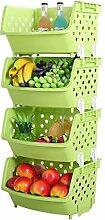 WEIZQ 4 Stücke Küche Aufbewahrungsbox Lagerung