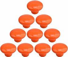 WEIZQ Keramiken MöbelKnöpfe, 10er Set Keramik Möbelknopf Möbelknauf Möbelgriff für Küchenschränke Nachttisch Schrank Kinderzimmer