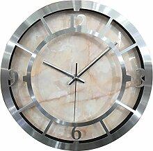 WEIZQ Wanduhr, Modern Wanduhr Lautlos Wall Clock ohne Tickgeräusche für Wohnzimmer, Küche Oder Büro