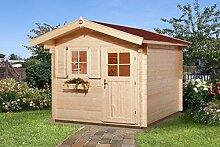 Weka 131.2530.40109 Sparset Gartenhaus Premium28 FT, 250 x 300, V60, inkl. DS rot Außemmaß:300 x 370 x 251