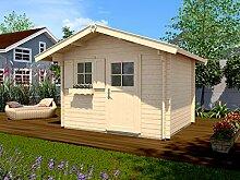 Weka 131.3025.50109 Sparset Gartenhaus Premium45 FT, 300 x 250, V60, inkl. DS rot Außemmaß:380 x 320 x 262