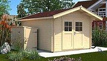 Weka 132.3025.40109 Sparset Gartenhaus Premium28 DT, 300x250, V60, inkl. DS rot Außemmaß:380 x 320 x 262