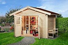 Weka 132.3025.50009 Sparset Gartenhaus Premium45 DT, 300 x 250, inkl. DS rot Außemmaß:380 x 280 x 262