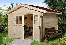 Weka 132.3038.40009 Sparset Gartenhaus Premium28 DT, 300x380, inkl. DS rot Außemmaß:380 x 410 x 262