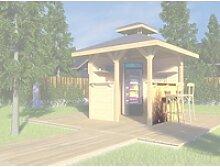 Weka Bausatz Tresenwand 28 mm Natur für Pavillon