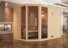 weka Design-Sauna KEMI Eck 2 GT2F, Sparse