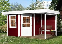 weka Designhaus 213 A Gr.2, 5-Eck, schwedenrot, 28