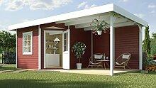 weka Designhaus 213 B Gr.2, 5-Eck, schwedenrot, 28