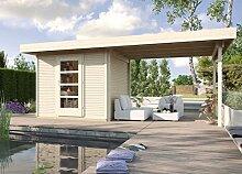 weka Designhaus wekaLine 172 B Gr.3, natur, 28 mm, ET, Anbau 300 cm
