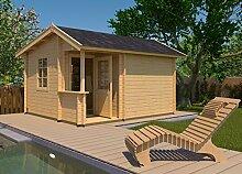 weka Gartenhaus 134, 45 mm, mit überdachtem