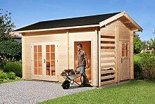 weka Gartenhaus 150, 28 mm, DT, mit Holzlager und