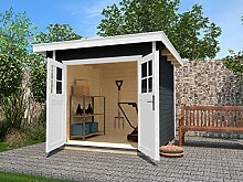 weka Gartenhaus 179 Gr. 2, anthrazit, 28 mm, DT