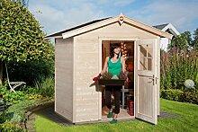 Weka Gartenhaus 223 Größe 1 mit Einzeltür natur