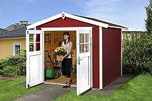 Weka Gartenhaus 224, schwedenrot, 280 x 259 x 227