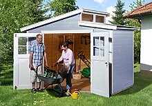 weka Gartenhaus 226 Gr.3, grau, 21 mm