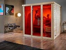 WEKA Heimsauna Massivholzsauna Sauna mit Glas