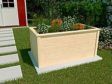Weka Hochbeet Holz 139x78x70cm Frühbeet