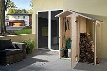 weka Holzbau GmbH weka Garten-/Terrassenschrank 351 A Gr.1 Satteldach, 14 mm, ET, Schleppdach 50 cm