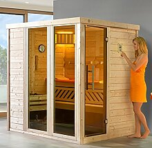 weka Massivholz-Elementsauna 45 mm KEMI 1 GT2F