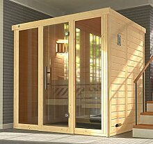 weka Massivholz-Elementsauna 45 mm KEMI 2 GT2F