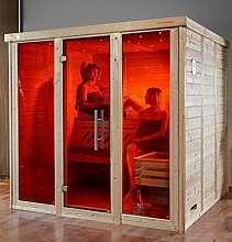 weka Massivholz-Elementsauna 45 mm KEMI 3 GT2F