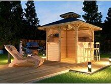 weka Pavillon Gartenoase, (Set), BxT: 294x294 cm,
