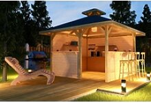weka Pavillon Gartenoase, (Set), BxT: 380x380 cm,