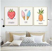 wekeke Obst Cartoon Dekorative Malerei Infant