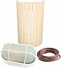WelaSol® Lampenset Lampenschirm 914, Saunalampe,