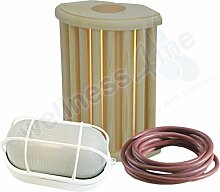 WelaSol® Lampenset Lampenschirm 915, Saunalampe,