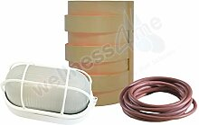 WelaSol® Saunalampe Set Lampenschirm 917,