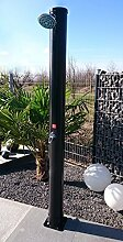 WelaSol® Solardusche 34 Liter Gartendusche 2,20 m mit Wellness Duschkopf