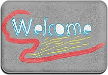 Welcome Design Logo Colorful Nice Fußmatte
