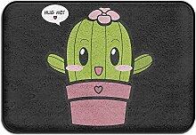 Welcome Matte Hug Me Cute Smile Kaktus Pink Girl rot Herz Cool Outdoor die Sauberlaufmatten Tür vorne für