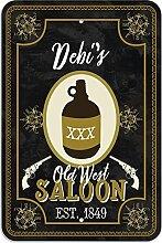 """Welcome to Debi 's Old West Saloon–Bar Pub Schild aus Western, plastik, 12"""""""" x 18"""""""" (30.5cm x 45.7cm)"""