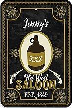 "Welcome to Jenny 's Old West Saloon–Bar Pub Schild aus Western, plastik, 8"""" x 12"""" (20.3cm x 30.5cm)"
